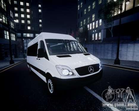 Mercedes-Benz Sprinter Long for GTA 4 interior
