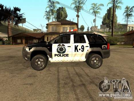 Jeep Grand Cherokee police K-9 for GTA San Andreas left view