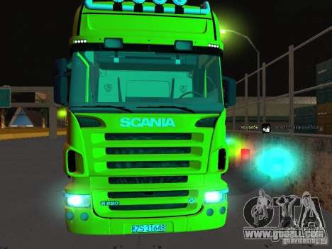 Scania R620 for GTA San Andreas back view