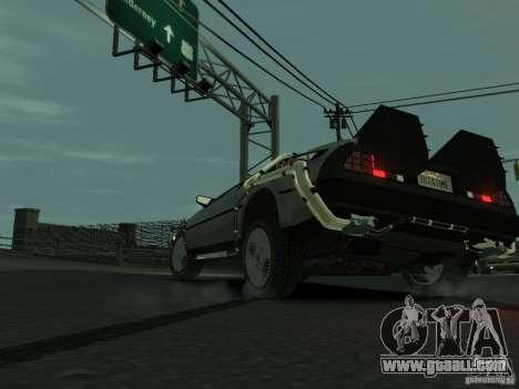 DeLorean BTTF 2 for GTA 4 back left view