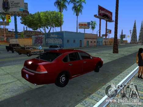 Chevrolet Impala Unmarked for GTA San Andreas back view