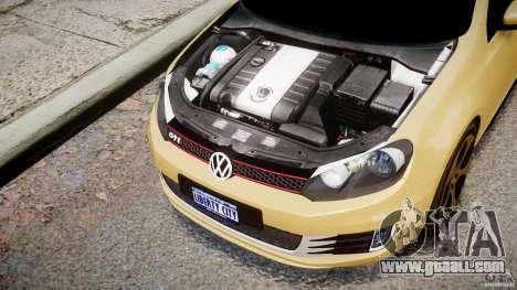 Volkswagen Golf GTI Mk6 2010 for GTA 4 inner view
