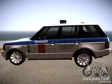 Range Rover Supercharged 2008 Police DEPARTMENT for GTA San Andreas left view
