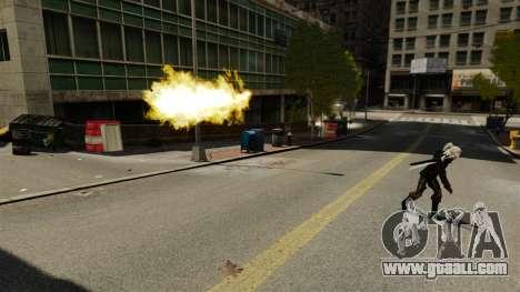 Fire in the hands of Geralt for GTA 4 second screenshot