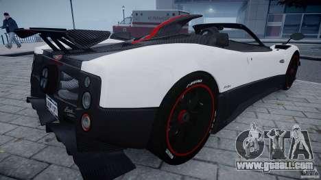 Pagani Zonda Cinque Roadster for GTA 4 right view