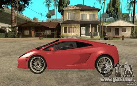Lamborghini Gallardo LP550 Valentino Balboni for GTA San Andreas left view