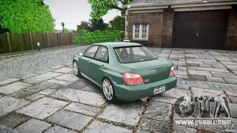 Subaru Impreza v2 for GTA 4 back left view