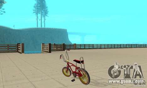 CUSTOM BIKES BMX for GTA San Andreas back left view
