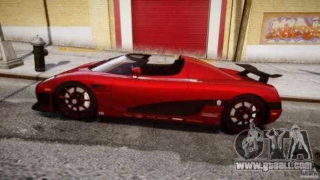 Koenigsegg CCXR Edition for GTA 4 left view