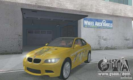BMW M3 E92 Stock for GTA San Andreas bottom view