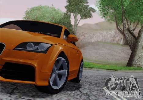 Audi TT-RS Coupe for GTA San Andreas inner view