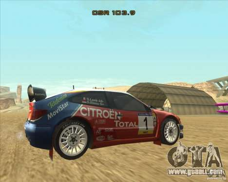 Citroen Xsara WRC for GTA San Andreas left view