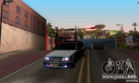 Mercedes-Benz W140 S600 Long Deputat Style for GTA San Andreas inner view