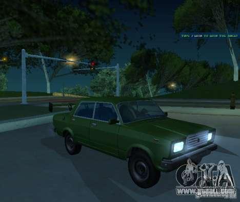 Vaz 2107 Allows for GTA San Andreas