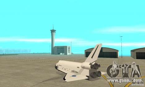 Space Shuttle Discovery for GTA San Andreas back left view