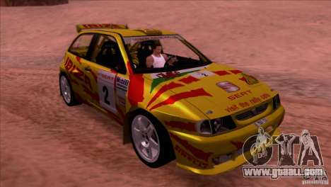 Seat Ibiza Rally for GTA San Andreas side view