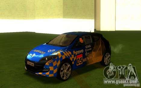 Renault Megane RS for GTA San Andreas back view