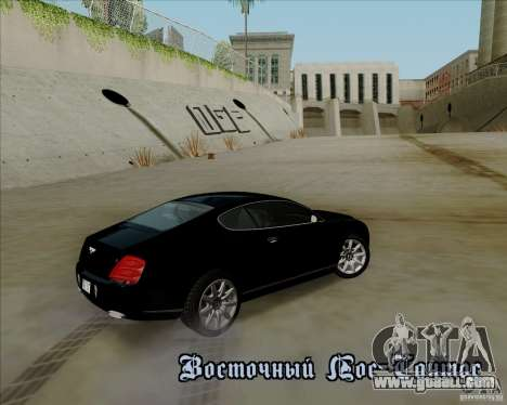 Bentley Continental GT V1.0 for GTA San Andreas engine