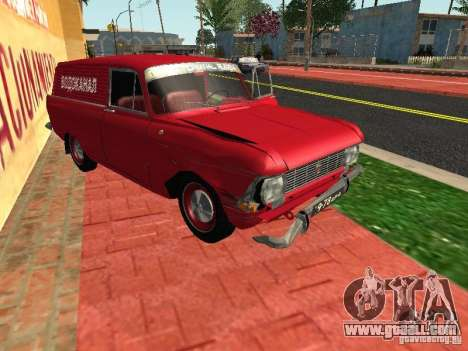 Moskvich 434 for GTA San Andreas back view