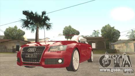 Audi S5 for GTA San Andreas inner view