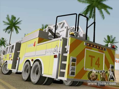 Pierce Arrow XT BCFD Tower Ladder 4 for GTA San Andreas back left view