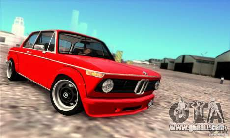 BMW 2002 Turbo for GTA San Andreas back left view