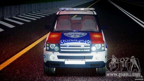 Range Rover Macedonian Police [ELS] for GTA 4 bottom view