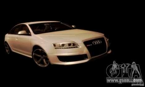 Audi RS6 TT for GTA San Andreas inner view