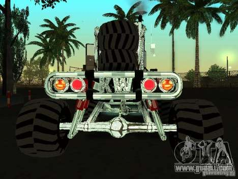 Kenworth W900 Monster for GTA San Andreas back left view