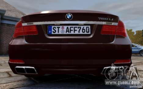 BMW 760Li 2011 for GTA 4 right view