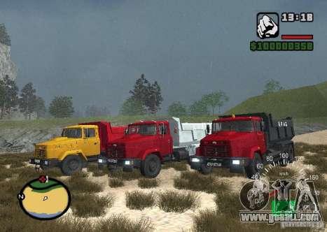 KrAZ 65055 Truck for GTA San Andreas left view
