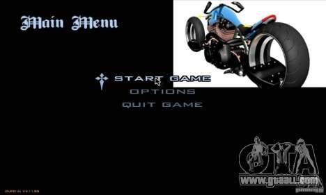 Loading screens and menus in the style of motorc for GTA San Andreas fifth screenshot
