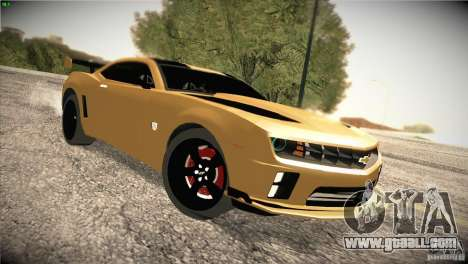 Chevrolet Camaro SS Transformers 3 for GTA San Andreas back view