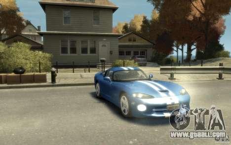 Dodge Viper GTS for GTA 4 back view