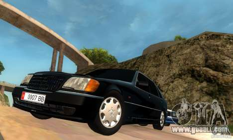 Mercedes-Benz W140 S600 Long Deputat Style for GTA San Andreas