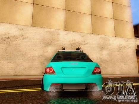 Mitsubishi Lancer for GTA San Andreas inner view