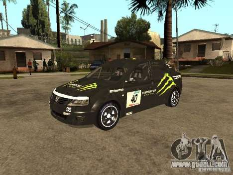 Dacia Logan Rally Dirt for GTA San Andreas side view