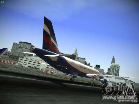 Aeroflot Russian Airlines Airbus A320 for GTA San Andreas back view