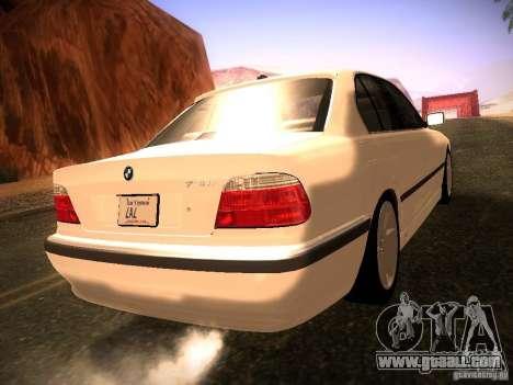 BMW 730i e38 1997 for GTA San Andreas left view
