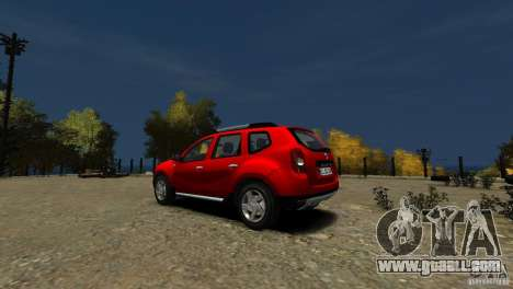 Dacia Duster SUV 4x4 2010 for GTA 4 back left view