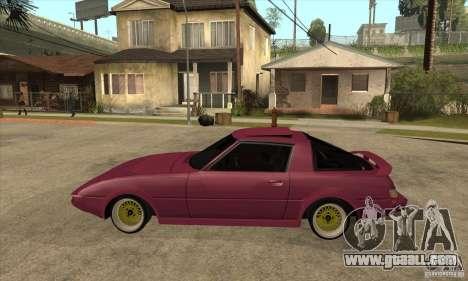 Mazda RX7 SA22C for GTA San Andreas left view