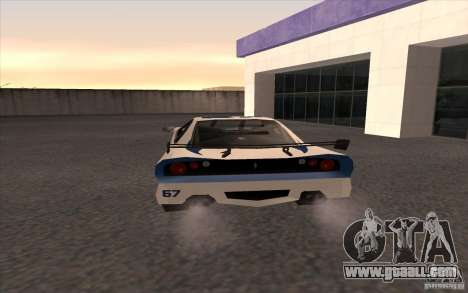 The New Turismo for GTA San Andreas back left view