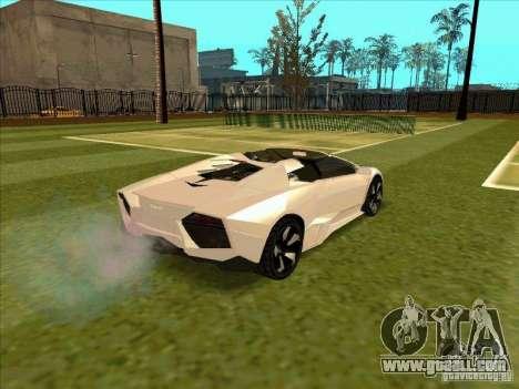 Lamborghini Reventon Convertible for GTA San Andreas right view