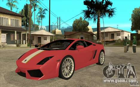 Lamborghini Gallardo LP550 Valentino Balboni for GTA San Andreas