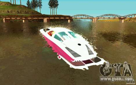 Mamba Speedboat for GTA San Andreas back left view