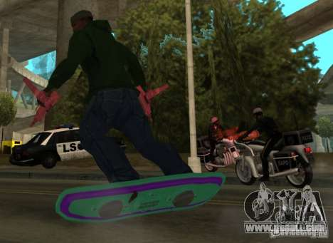 Hoverboard bttf for GTA San Andreas left view