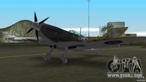 Spitfire Mk IX for GTA Vice City back left view