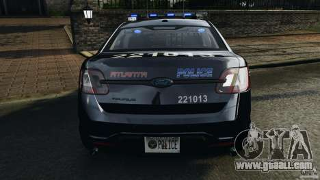 Ford Taurus 2010 Atlanta Police [ELS] for GTA 4 engine