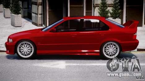 BMW 318i Light Tuning v1.1 for GTA 4 back left view