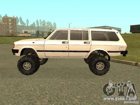 31022 Volga GAS 4 x 4 for GTA San Andreas back left view